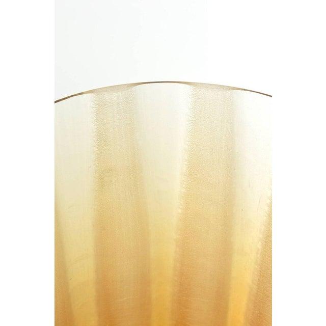 Italian Murano Barbini Acid Etched Monumental Glass Vase - Image 8 of 10