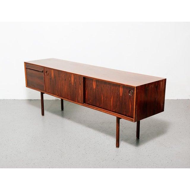 Mid-Century Modern Slim Rosewood Credenza by Haug Snekkeri For Sale - Image 3 of 11