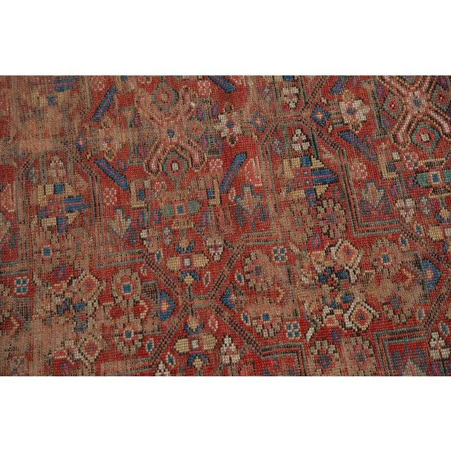 """Gold Antique Kurdish Carpet - 5'10"""" x 8'1"""" For Sale - Image 8 of 13"""