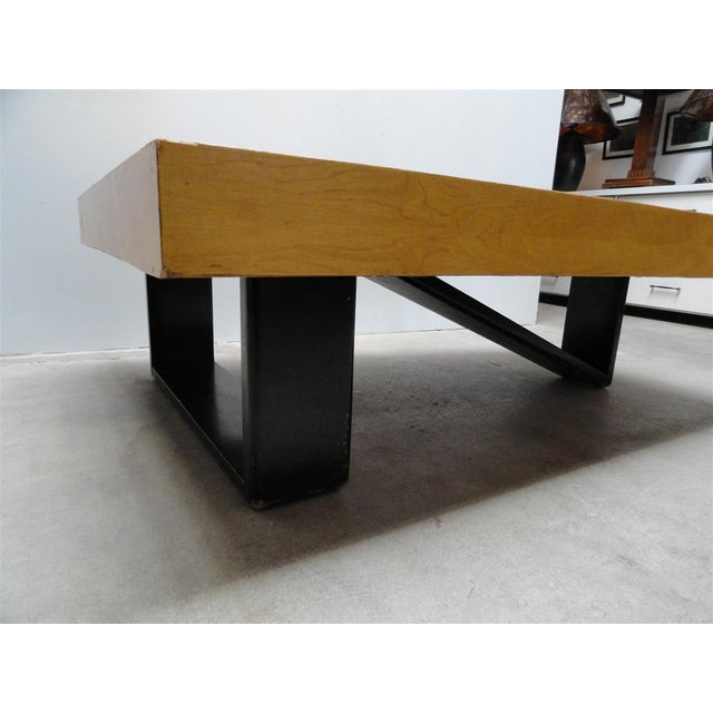 Black Rare Barzilay Trapezoid Cocktail Table in Birch For Sale - Image 8 of 10