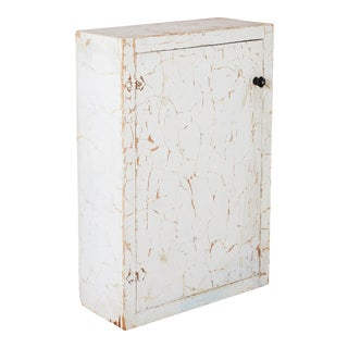 Rustic White Medicine Wall Cabinet For Sale