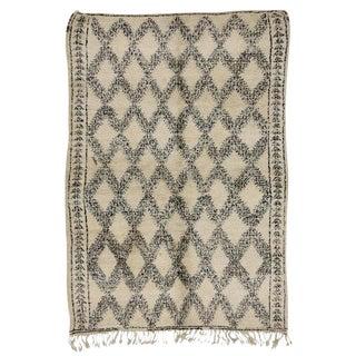 "Vintage Beni Ourain Moroccan Tribal Style Rug - 6'1"" X 8'6"""