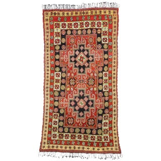 1970s Vintage Tribal Style Rabat Moroccan Area Rug - 6′2″ × 11′9″ For Sale