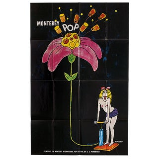 Tomi Ungerer / Pennebaker Monterey Pop 1968 Original Movie Poster For Sale