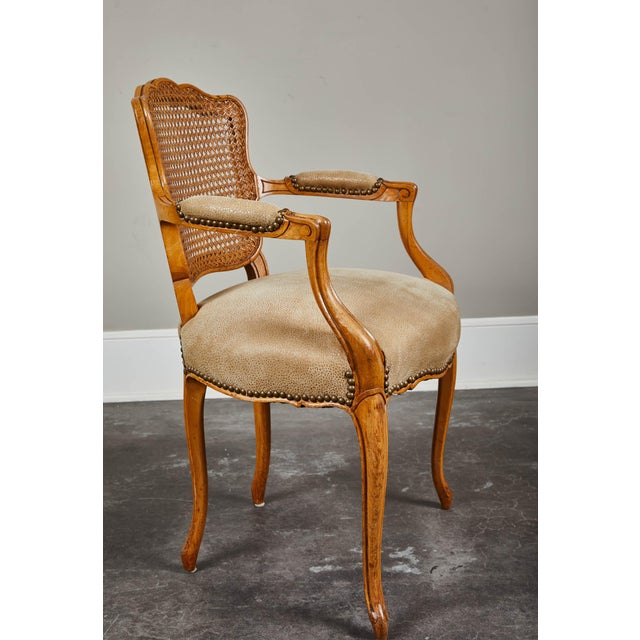 19th Century Louis XV Style Caned Armchairs - Set of 4 For Sale In Los Angeles - Image 6 of 11