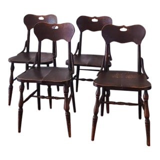 Antique Bentwood Dining Chairs - Set of 4 For Sale
