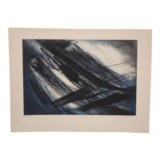 "Terry Haas (Czechoslovakia, B.1923) ""Interspatial"" Etching W/ Aquatint C.1960 For Sale"