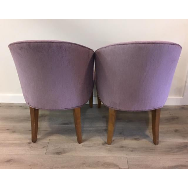 Contemporary Pair Purple Donghia Chairs For Sale - Image 3 of 7