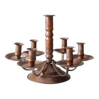Antique Copper Candelabra For Sale