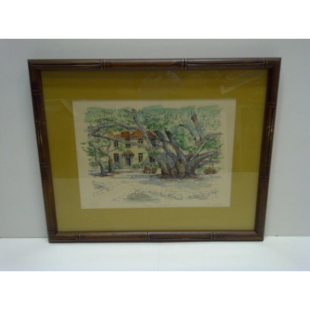 Limited Edition Signed Framed Print Bauyan Tree George Allan - Image 2 of 7
