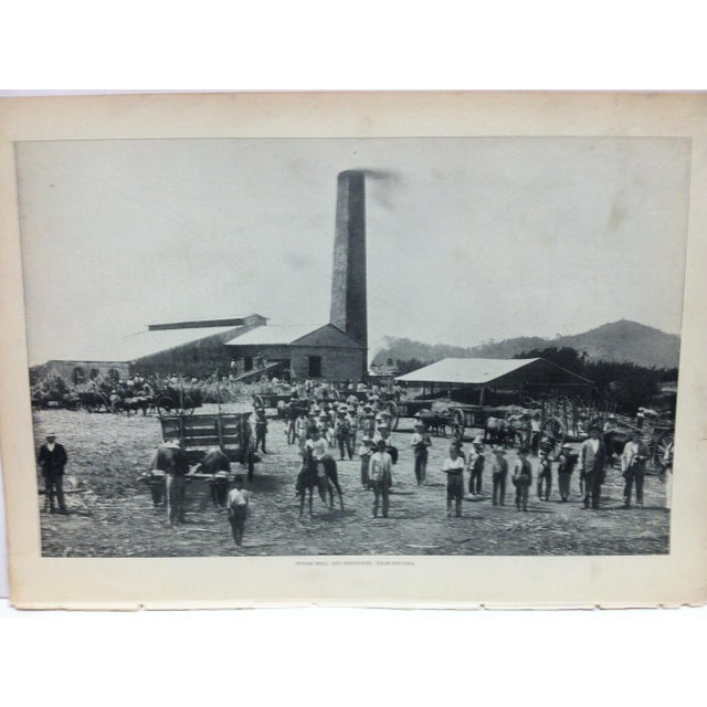 "This is a vintage Our Islands and Their People print that is titled""Sugar Mill and Employees near Havana"" from The N.D...."