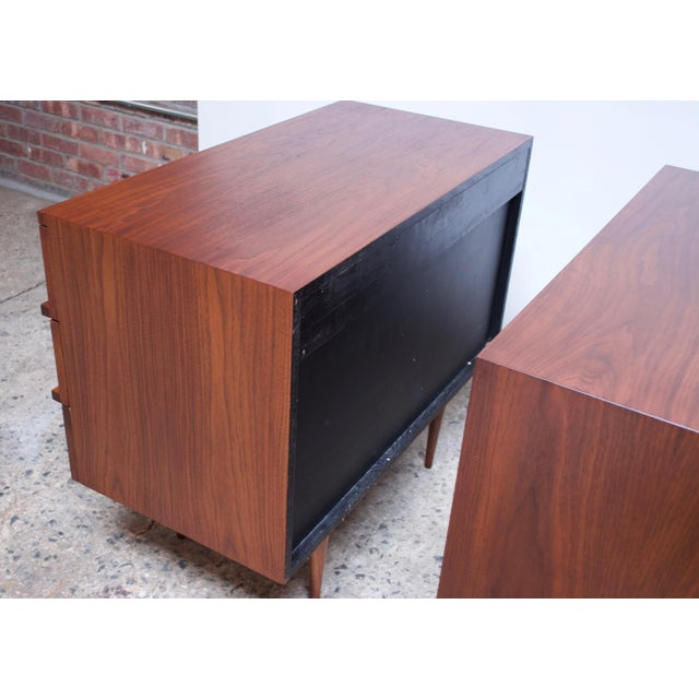 Pair of Mel Smilow Three-Drawer Walnut Chests For Sale - Image 11 of 13