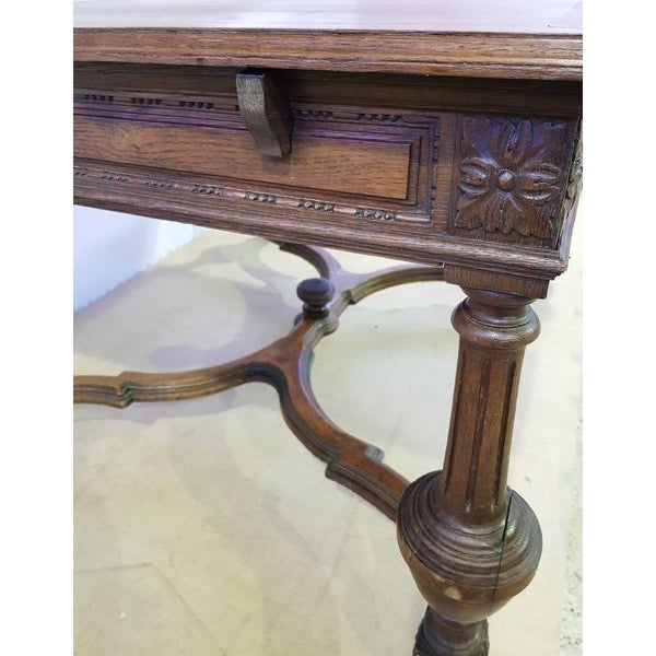 Rectangular Carved Antique French Jacobean Style Oak Dining Table For Sale - Image 11 of 12