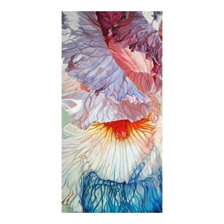 "Chloe Hedden Contemporary ""Fading Iris"" Painting For Sale"