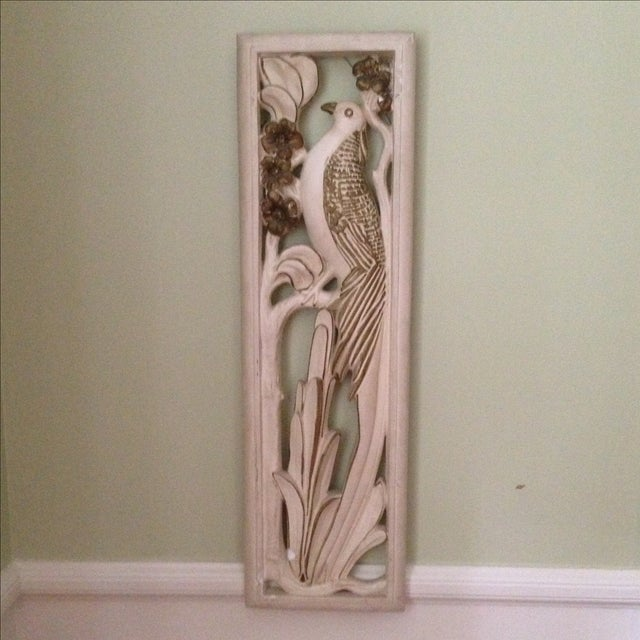 Mid Century Bird & Flower Wall Hanging - Image 3 of 11