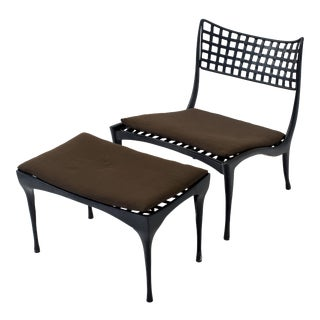 Single Dan Johnson 'Sol y Luna' Patio Lounge Chair and Ottoman Set