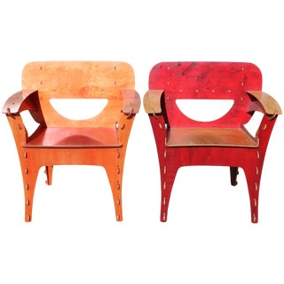 "Pair of David Kawecki ""Puzzle"" Chairs For Sale"