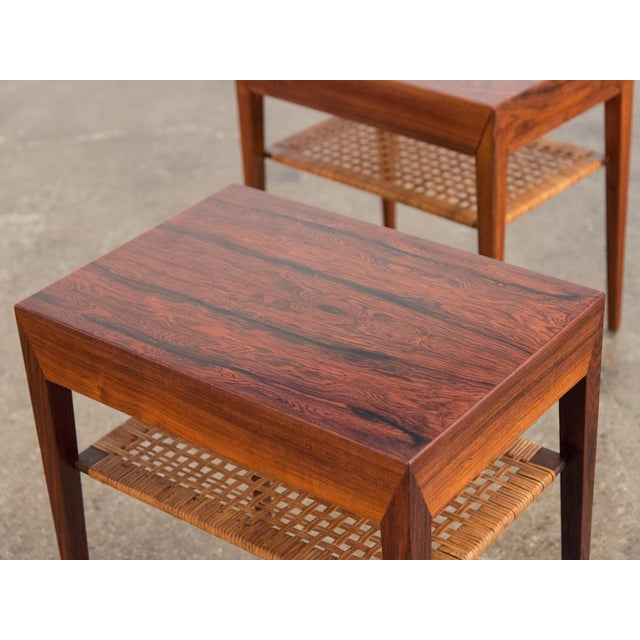 Wood Mid-Century Modern Rosewood Tables by Severin Hansen - a Pair For Sale - Image 7 of 10