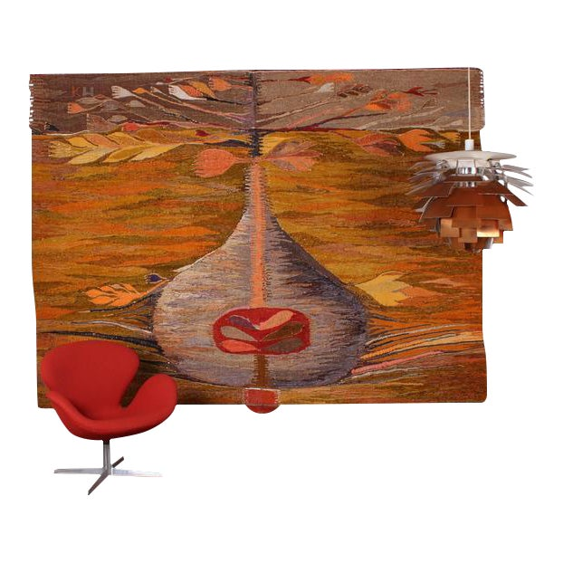 "Large Tapestry by Krystyna Wojtyna-Drouet Titled ""Fruit"" - Image 1 of 10"