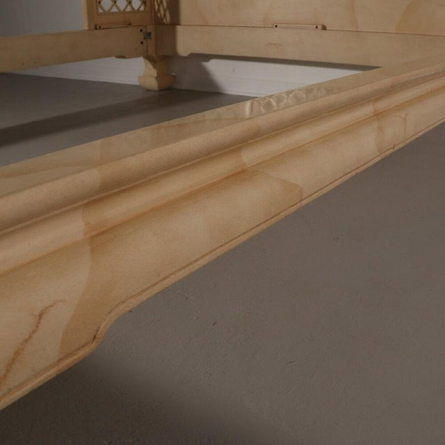 Cream Henredon Lattice Canopy Bed For Sale - Image 8 of 13