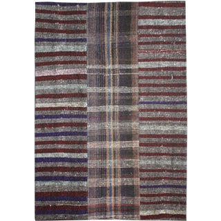 "Hand-Knotted Patchwork Rug by Aara Rugs - 10'0"" X 8'2"" For Sale"