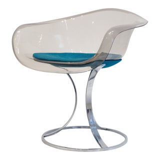 Peter Hoyte Acrylic and Chrome Chair For Sale