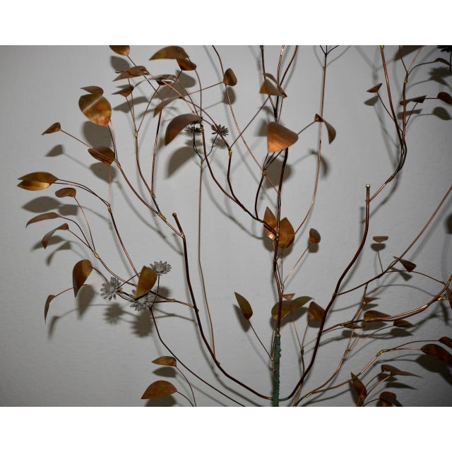 Curtis Jere (1910-2008) Copper Metalwork Free Standing Tree c.1967 Fantastic mid century sculpture by noted artist Curtis...