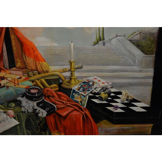 Black Late 20th Century Surreal Still Life Landscape by Ayers C.1995 For Sale - Image 8 of 13