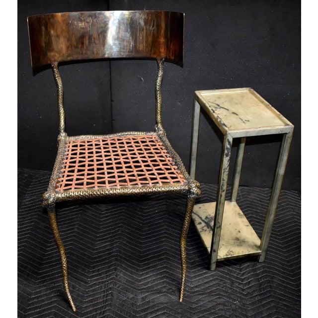 """Mid-Century Modern Sculptural """"Snake"""" Design Brass Desk or Bedroom Chair For Sale - Image 3 of 9"""
