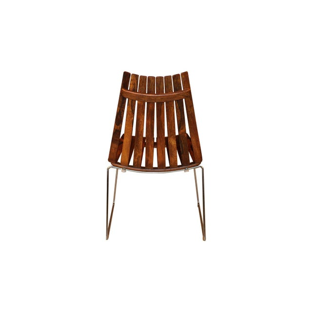 "Hans Brattrud Norwegian Modern Hans Brattrud ""Scandia"" Rosewood Dining Chairs For Sale - Image 4 of 11"