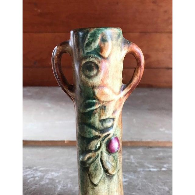 Apple Woodcraft Vase By Weller Art Pottery Antique Ceramics Chairish
