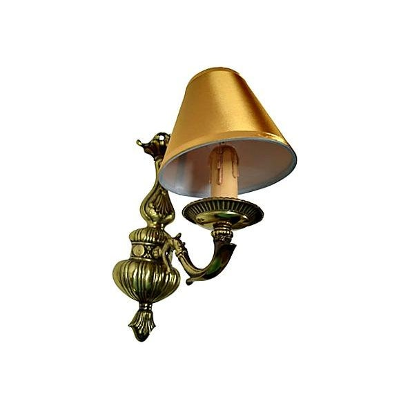 Vintage French Boudoir Brass Sconce - Image 5 of 5