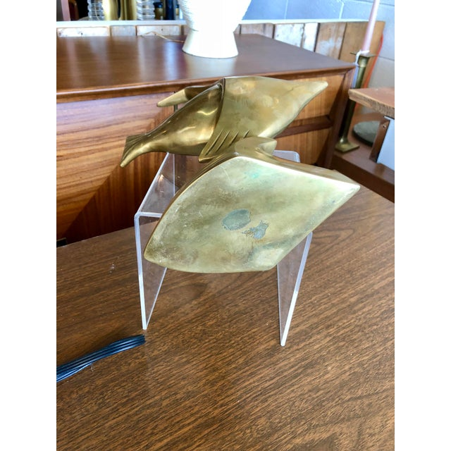 20th Century Nautical Brass Angelfish Table Accent For Sale In Charleston - Image 6 of 7