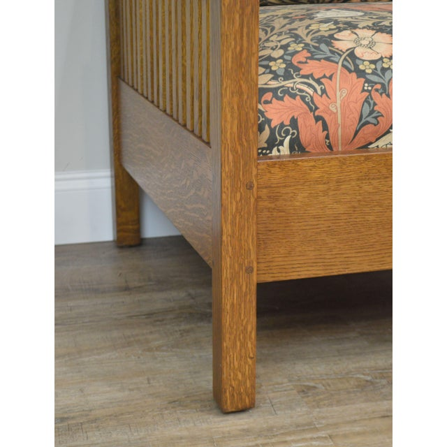 Stickley Mission Collection Oak Spindle Cube Chair For Sale - Image 11 of 13