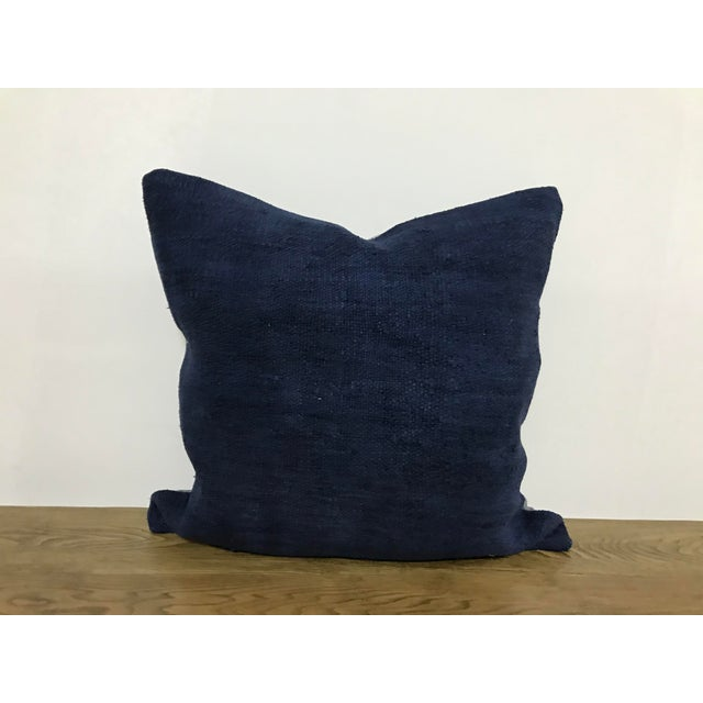 Blue Modern Turkish Decorative Handmade Pillow Cover For Sale In Phoenix - Image 6 of 6