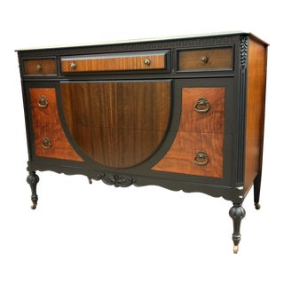 Early 20th C. Western Furniture Co. Heirloom Exotic Wood Dresser For Sale