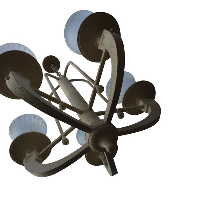 1980s Vintage Fredrick Raymond Neoclassical Chandelier For Sale - Image 5 of 5