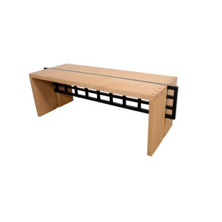 Prairie Style Mission Mid Century Modern Maple Coffee Table Bench For Sale