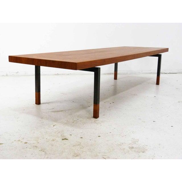 Teak & Steel Coffee Table by Johannes Aasbjerg for Illums Bolighus For Sale - Image 5 of 8