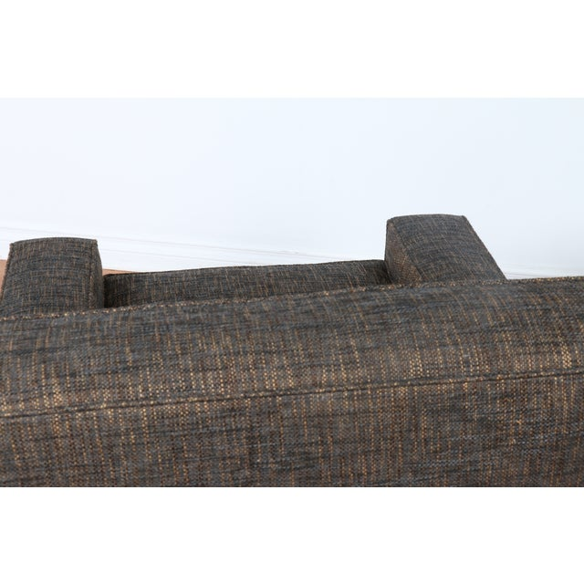 Gray Cubed Lounge Chairs- A Pair - Image 8 of 10