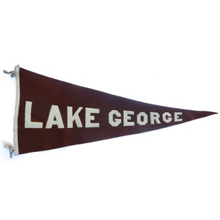 1920s Lake George Tourist Pennant For Sale