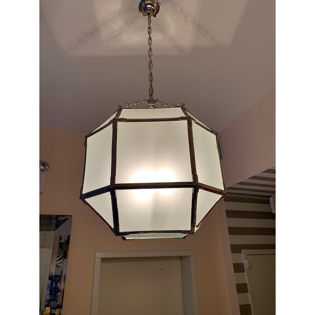 Visual Comfort Visual Comfort Morris Medium Lanterns in Polished Nickel (2 Available) For Sale - Image 4 of 4
