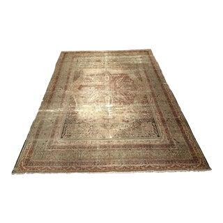 Late 19th Century Antique Kerman Lavar Rug - 8′11″ × 13′1″ For Sale