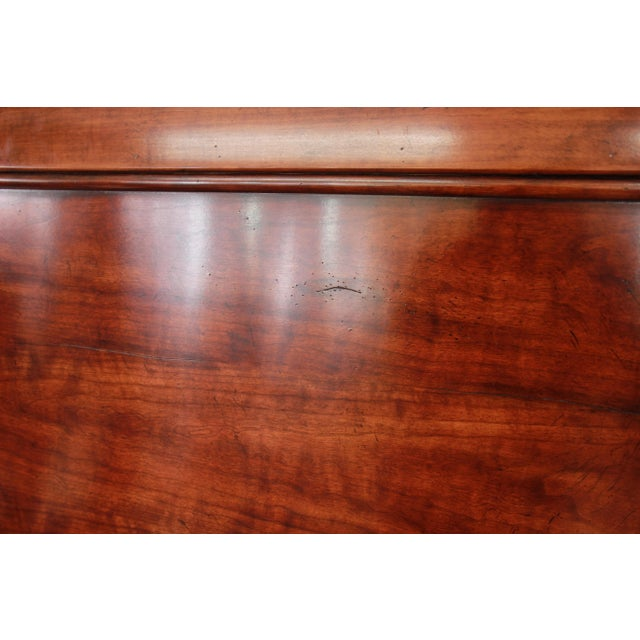 Henredon Aged Cherry Wood Queen Size Sleigh Bed For Sale - Image 10 of 11