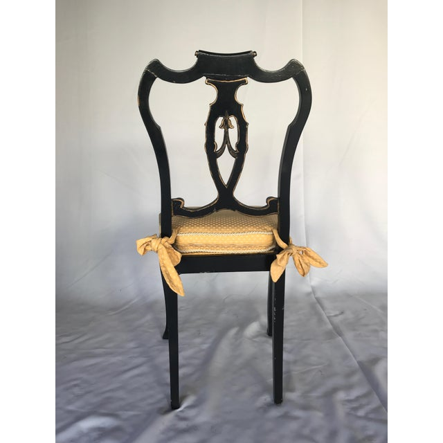 French Chinoiserie Style Writing Desk and Chair Set - Image 4 of 8