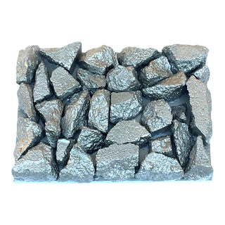 "Suga Lane ""Gilt Peligroso"" Brutalist Inspired Silver Rock Sculpture For Sale"