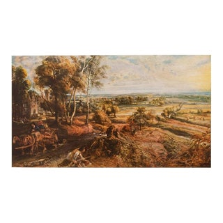 1950s Rubens, Landscape With Castle Steen Vintage Lithograph For Sale