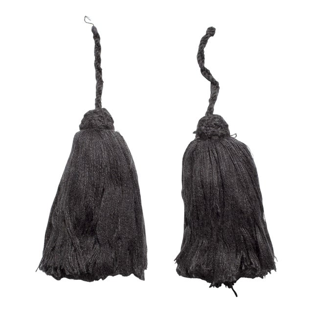 Dark Grey Moroccan Tassels - A Pair - Image 1 of 3