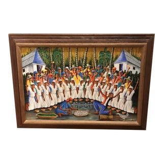 Vintage Dieudonne Rouanez Original Oil Painting Signed and Framed For Sale