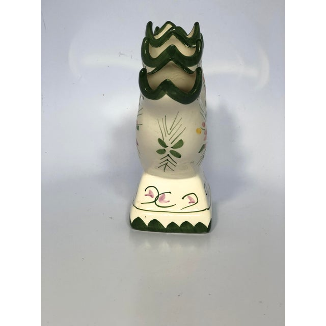 1970s Vintage Hand-Painted Faience Tulipiere Vase For Sale - Image 4 of 6